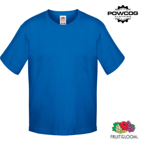 Fruit of the Loom Childrens Softspun Plain T-Shirt13 COLOURSAGES 3-15