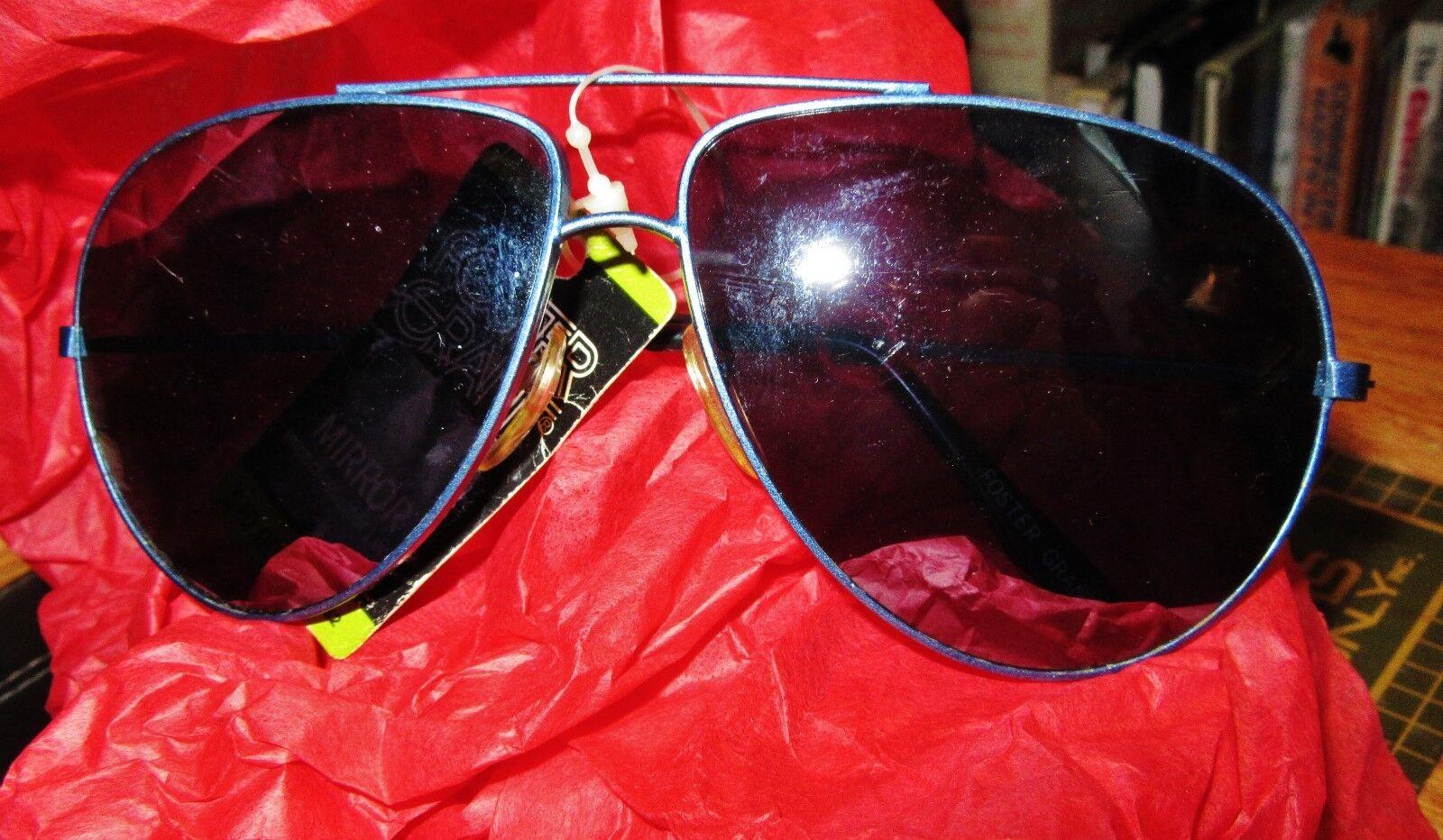 Aviator Mirror Lens sunglasses Blue wire Foster Grant authentic miror shades