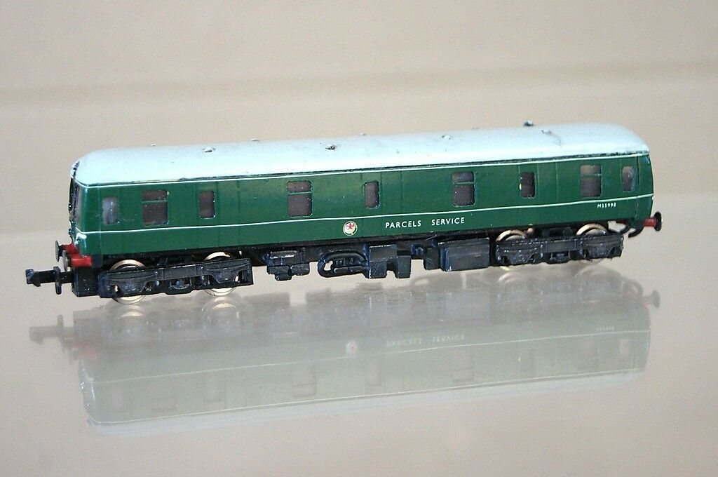 GRAHAM FARISH KIT BUILT LANGLEY BR MOTOR PARCELS VAN RAILCoche LOCO M55998 NICE mz