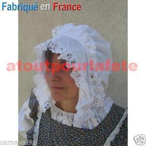 Coiffe de Paysanne,Serva<wbr/>nte,Chapeau,Mé<wbr/>diéval,Moyen Age,Accessoire<wbr/>,Déguisement
