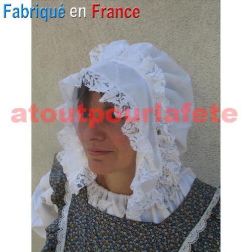 Coiffe de Paysanne,Servante,Chapeau,Médiéval,Moyen Age,Accessoire,Déguisement