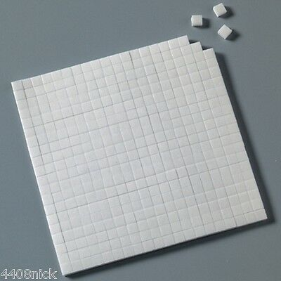 5 SHEETS DOUBLE SIDED STICKY FOAM PADS  5mm  x 5mm x 2mm