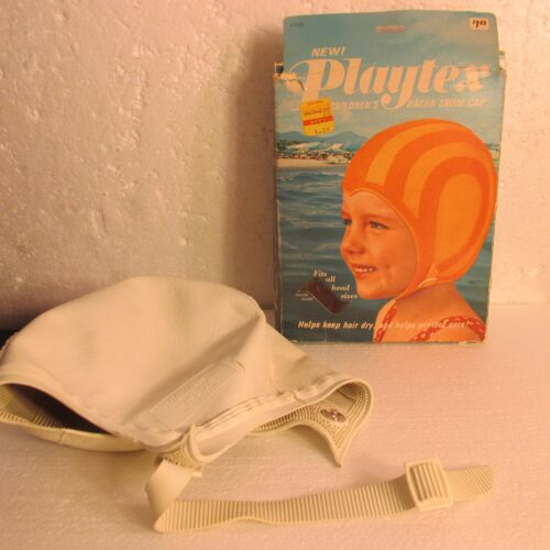Vtg Playtex Swim Bathing Cap NIB Rubber Chin Strap