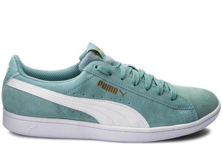 Puma Vikky Softfoam Women's Sneakers Shoes 362624 26 Aquaifer White White Aquaifer Size 7 684dfc