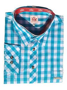 Trachtenhemd-Straubing-Aqua-Gr-XXL-zuenftig-amp-modern-von-Spieth-amp-Wensky