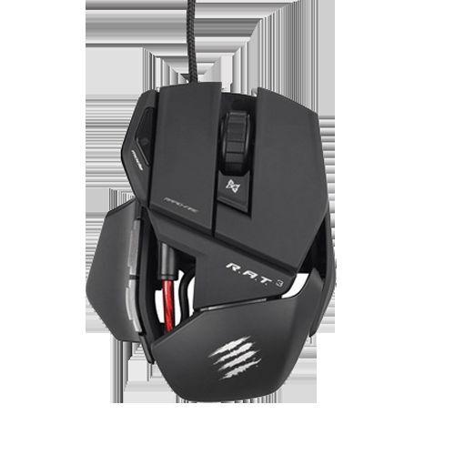 NEW Mad Catz Cyborg R.A.T. RAT 3 Gaming Optical Mouse 3500 dpi Matt Black