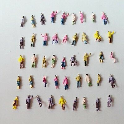 Adattabile 1:200 Scale Architectural Painted Mixed Model Figures People : Packs Of 50/100