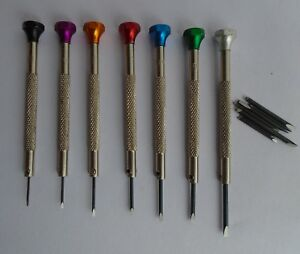 Jewellers Watchmakers Screwdriver Set of 7 Spare Blades ST-670