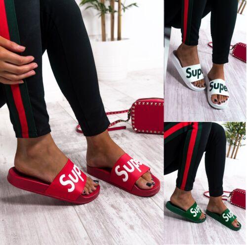 Femme Été Plage Vacances Casual Plat Designer Style curseurs Chaussures Femmes Taille