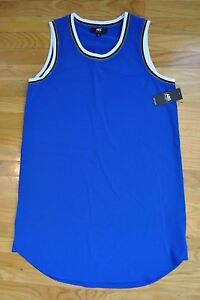 42d2fd330a5e9a NWT Womens ABS by Allen Schwartz T-Shirt Sleeveless Blue Dress Size ...