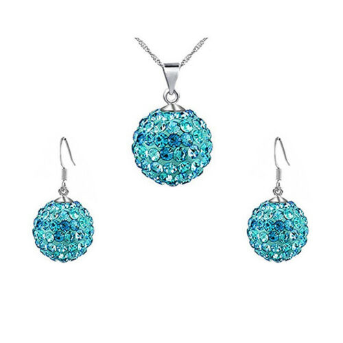 Señora joyas cadena set Collar con colgantes de pendientes pendientes ferido