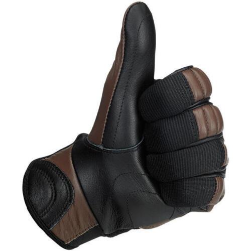 Biltwell Bantam Gloves Chocolate Brown /& Black motorcycle old retro classic