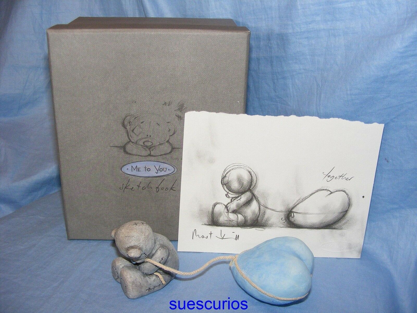 Me To You Tatty Teddy blau Nase Nase Nase Keramik Bär Skizzenbuch zusammen Geschenk 2ab2a4