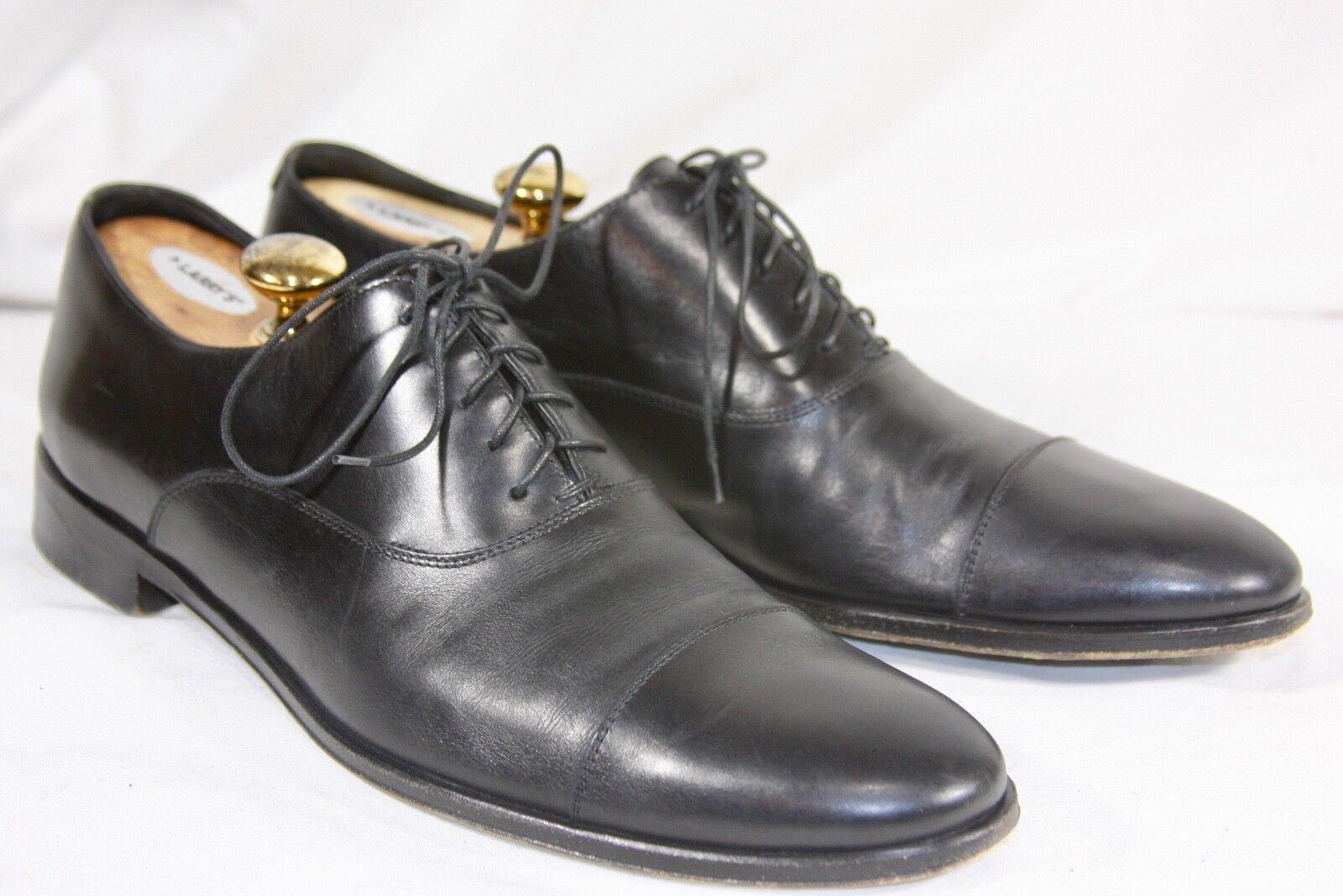 marche online vendita a basso costo  895 895 895 ERMENEGILDO ZEGNA nero Calf Cap-toe Balmoral Sz 11 D Dress scarpe  qualità ufficiale