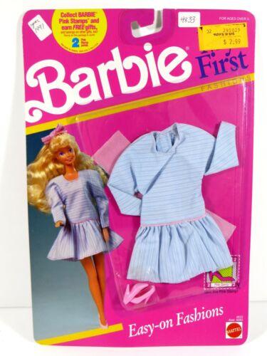 *W443 NIB BARBIE DOLL 1990 MY FIRST FASHION 4833