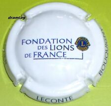 Capsule de Champagne: New !! LECONTE Xavier, Fondation des LIONS CLUB DE FRANCE