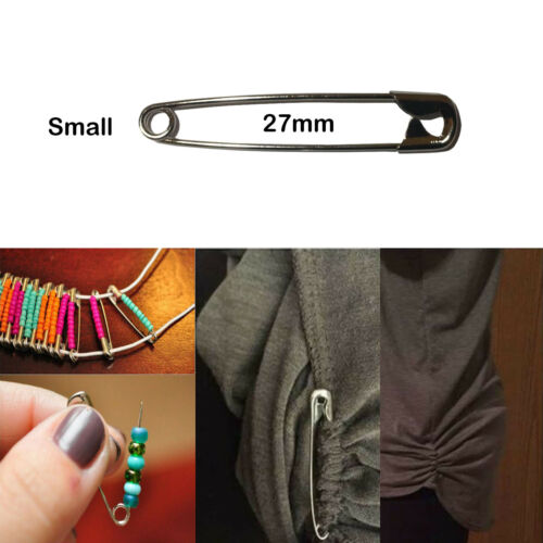 Imperdibles Plateado 27mm//45mm Cromo Fuerte Pequeño Grande Costura Artesanía ayuda