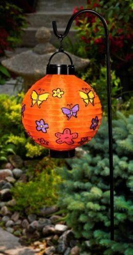 "LAMPION LATERNE Solar Leuchte Solarlampe /""ORANGE/""WinterGarten Deko*Balkon*A-Ware"