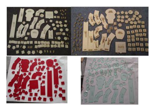 Gasland modelli e modelli di token in legno o di colore bianco acrilico