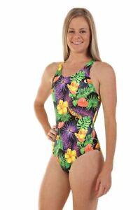 Nova Swimwear Ladies Sport Back Racer Toocan 1 Piece Chlorine Resistant Swimsuit