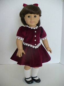 American girl molly s christmas dress pattern ebay