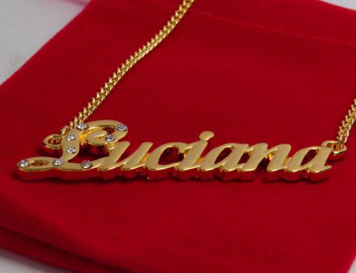 18K Gold PlatedWedding Unique Custom Made Birthday Name Necklace Luciana