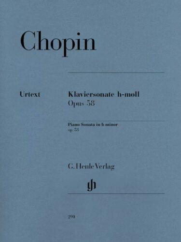 Chopin Piano Sonata B minor Op 58 Sheet Music Piano Solo NEW 051480290