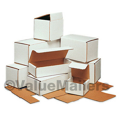 100 - 8x8x5 White Corrugated Shipping Packing Box Boxes Mailers 8 X 8 X 5