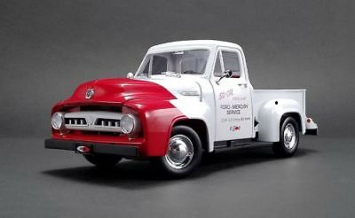 1953 FORD F-100 So Cal Speed Shop Push Camion Blanc & Rouge 1 18 par ACME A1807208