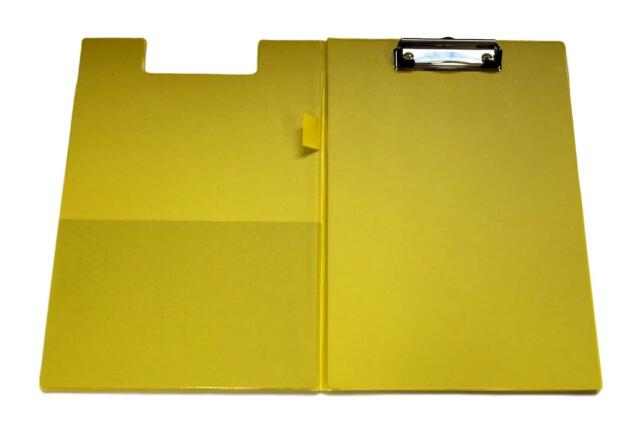 6 x A4 Size Fold Over Clipboard Double Cover Metal Clip-PVC Make