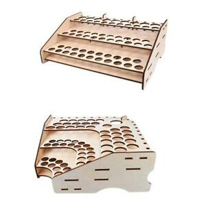 2-un-De-Madera-Almacenamiento-Organizador-Soporte-Modular-Rack-De-Pintura-74-agujeros-3-niveles
