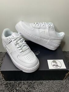 Nike Air Force 1 Shadow Triple White Ebay Nike air sole with air units units contain pressurised air that compresses on impact for lightweight, durable cushioning sporting some of the most wanted sneakers in the game, browse air max 90s and air force 1s. ebay