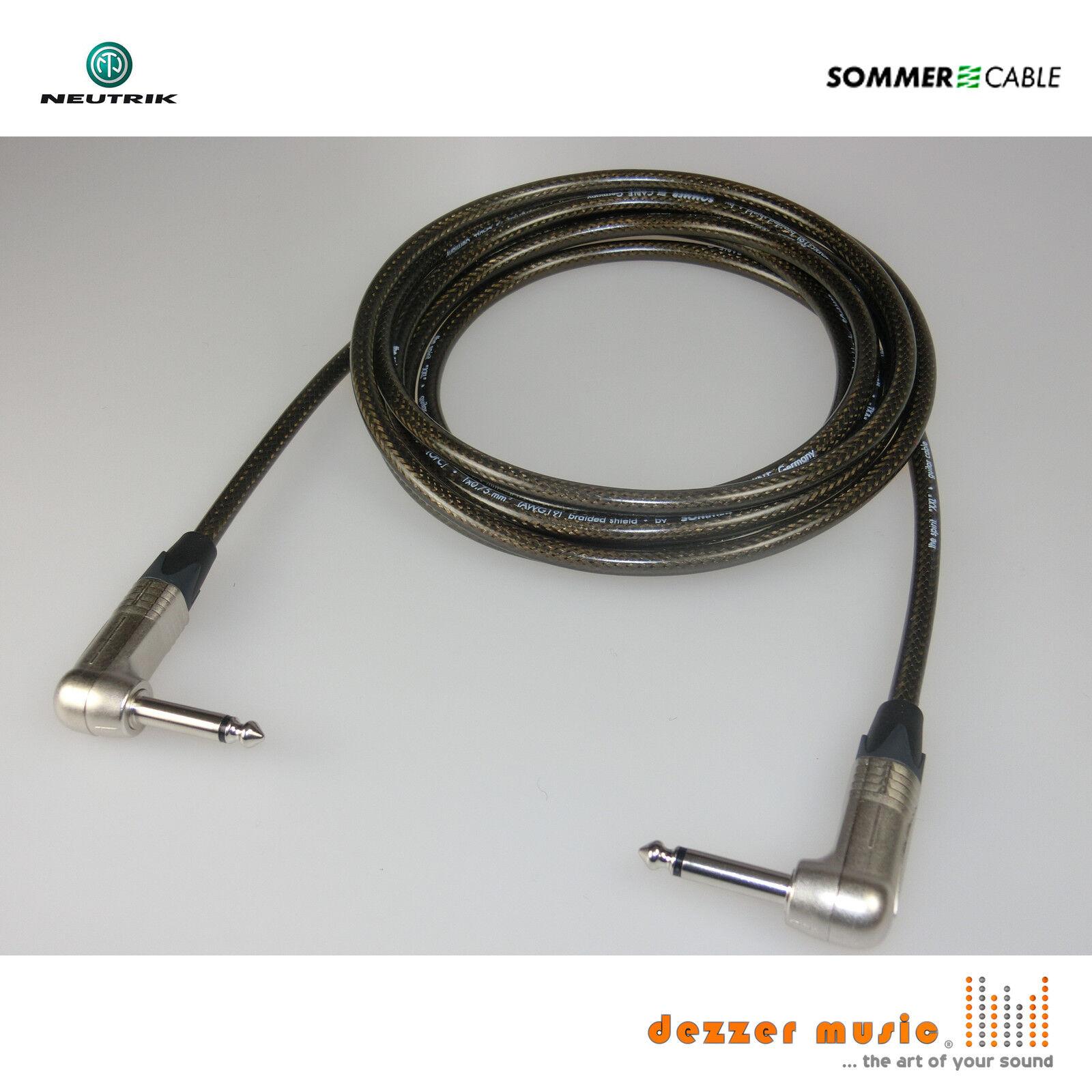 10m Gitarrenkabel SPIRIT XXL Sommer Cable Neutrik Klinke 6,3 mm Winkel-Winkel