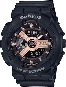 Casio-Baby-G-BA110RG-1A-Anadigi-Rose-Gold-amp-Black-Watch-for-Women