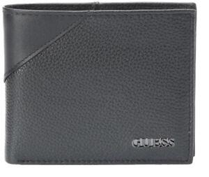 Guess-Men-039-s-Premium-Leather-Credit-Card-ID-Billfold-Wallet-Black-31GU22X003