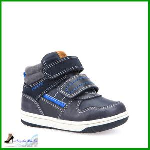 Geox Scarpe da Bambino in Pelle con Strappi Sneakers Bimbo Alte Invernali 21 26