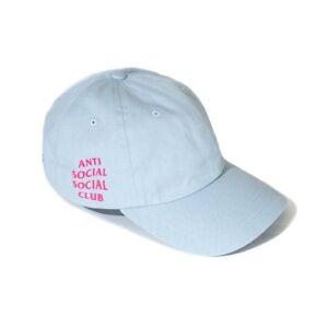 22eb8e57af7a Anti Social Social Club ASSC Logo Light Baby Blue Weird Cap Hat