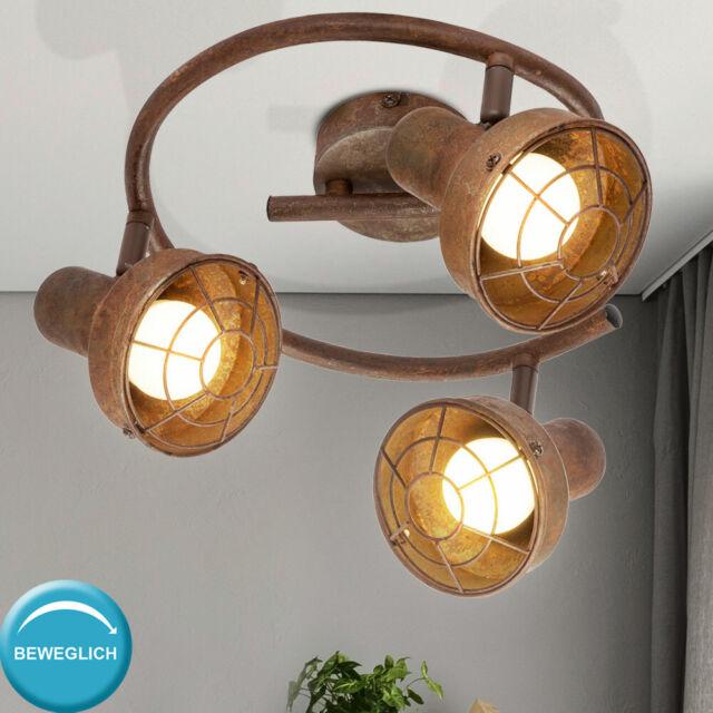 Retro Stil Wand Lampe rost Spot Strahler beweglich Arbeits Zimmer Beleuchtung