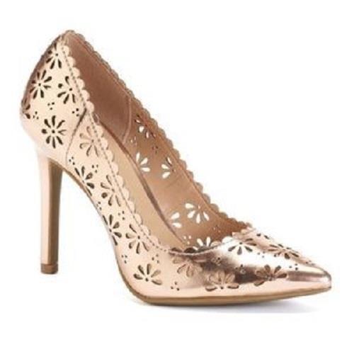Women's LC LAUREN Cutout CONRAD CONFETTI Rose Gold Cutout LAUREN Heels Fashion Dress Shoes NEW 03028e