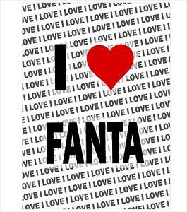 I Love Fanta Keyring Christmas Gift Birthday Stocking Filler
