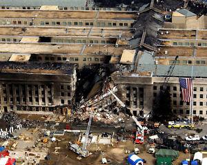 9-11-Arlington-Virginia-PENTAGON-Glossy-8x10-Photo-Firefighter-Poster-USA-Print