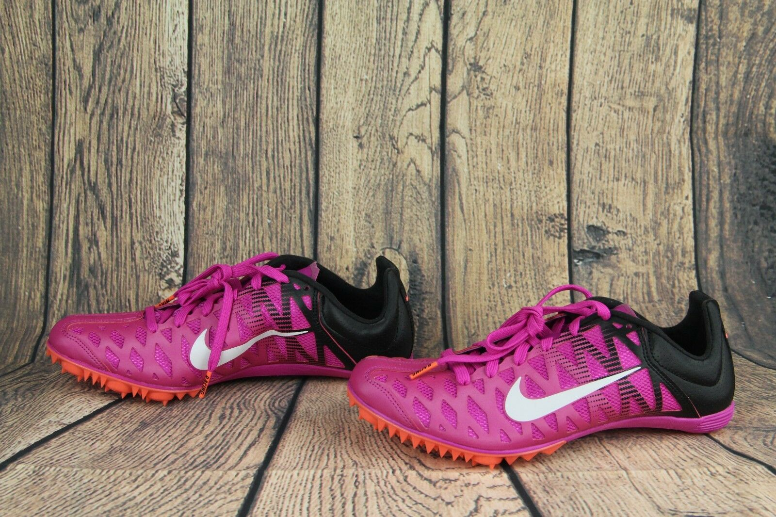 Nike Zoom Maxcat 4 Spikes Running shoes Fire Pink Pink Pink Black 549150-601 Mens Size 7 9f7057