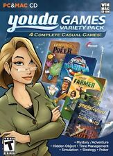 Youda Games Variety Pack (Windows/Mac, 2010) 4 Complete Games! * NEW *