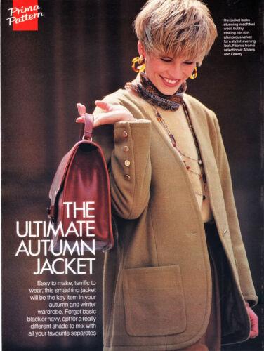 Easy Collarless JACKET BLAZER Tailored Look Prima Sewing Pattern 10 12 14 16 18