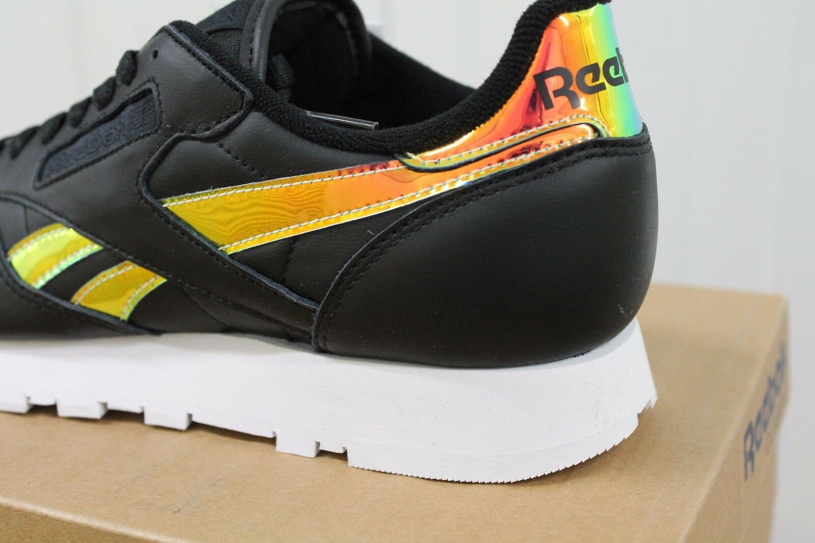 UNISEX REEBOK CL LEATHER RD BLACK CASUAL TRAINER BS5118 BNIB