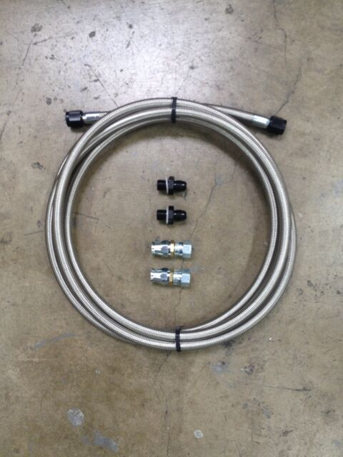GM transmission cooler Stainless Steel Hose Kit. 350, 400, 700R. ect.