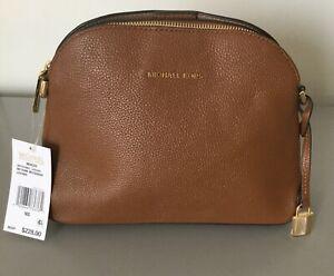 Michael-Kors-Mercer-MD-Dome-Luggage-Messenger-Pebbled-Leather-Missing-Strap