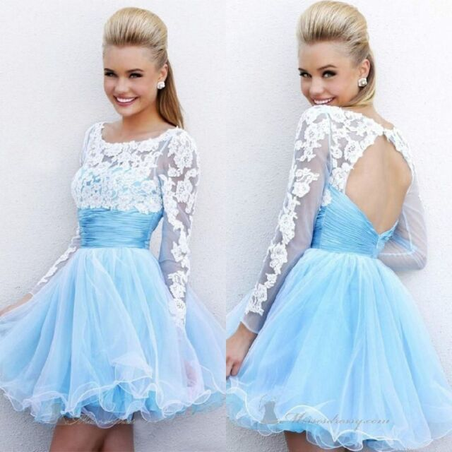 Short evening dress design lace up party dress White prom dress free Shipping