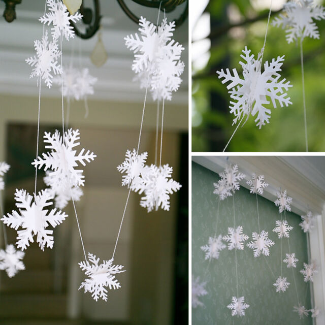 Christmas Party Decorations Supplies White 3d Snow