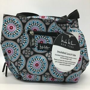 Image Is Loading Nicole Miller Insulated Lunch Bag Tote Designer Teal